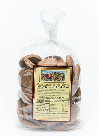 biscotti cacao e nocciola interni