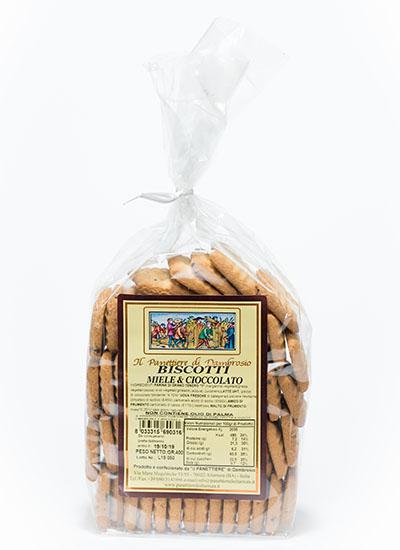 biscotti miele e cioccolato interni