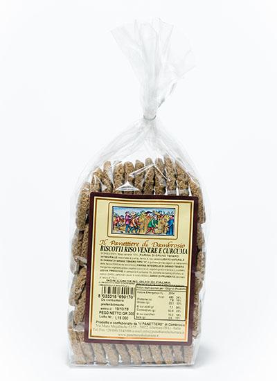 biscotti riso venere e curcuma interno