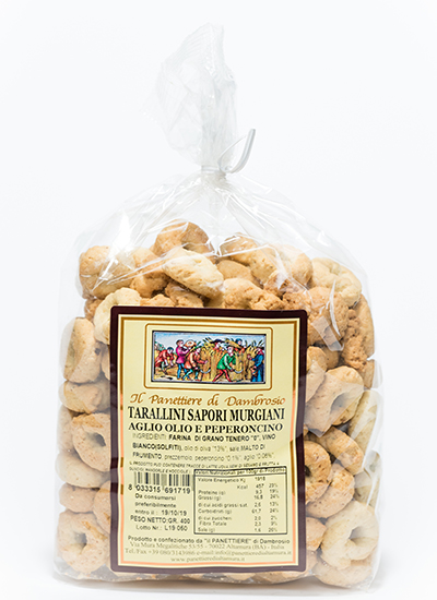 tarallini sapori murgiani aglio olio e peperoncino interno